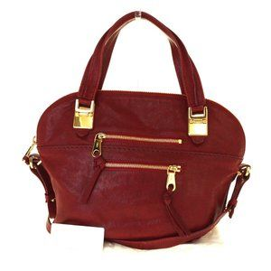 CHLOE Angie 2Way Shoulder Hand Bag Leather Red